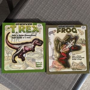 SCIENCE Uncover Frog Dinosaur Kid Book Model